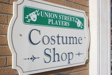USP Costume Shop Sign