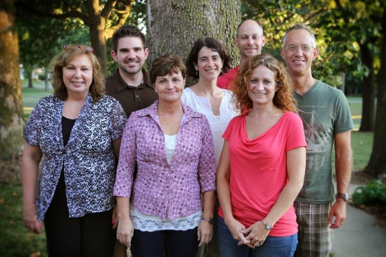 (L to R) Deb Linn, Mark Schaefer, Denise Gregory, Anne McCullough-Kelly, Mat Kelly, Wendy Vander Well, Tom Vander Well)