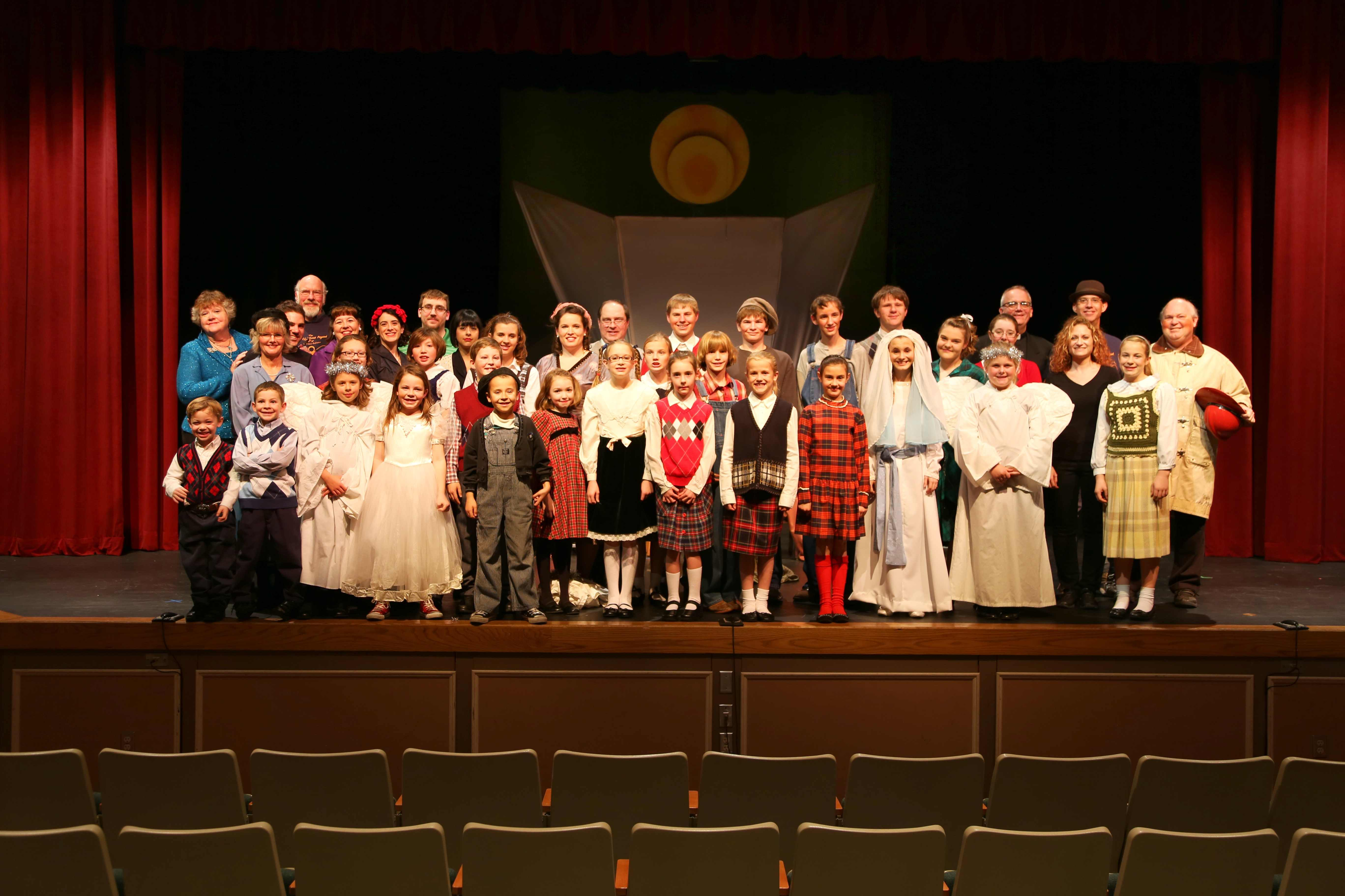 2013 12 usp bcpe cast photo 2 lr - The Best Christmas Pageant Ever Play