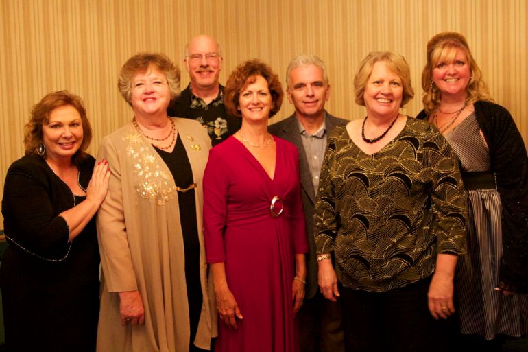 USP Walk of Fame Members present at the 2013 Awards Night (L-R): Deb Linn, Pat Van Zante, Arvin Van Zante, Peggy Moriarity, Pat Moriarity, Dottie McGee, Lisa Witzenburg. Not Pictured: Bev Graves, Shelley Buhrow