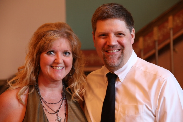 USP Walk of Fame member, Lisa Witzenburg, with Greg May.