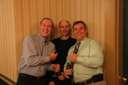 """The Set Boys"" (L-R) Mark Moreland, Mat Kelly, Jim Palmer"