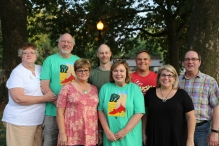 2017-2018 USP Board of Directors (L-R Pati Van Zante, Arvin Van Zante, Denise Gregory, Mat Kelly, Deb Linn, Jim Palmer, Kim Beyer, Doug De Wolf)