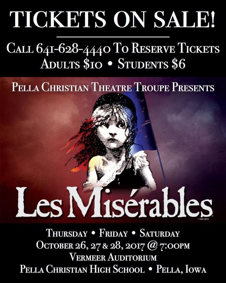 Pella Christian Les Miserables Ad